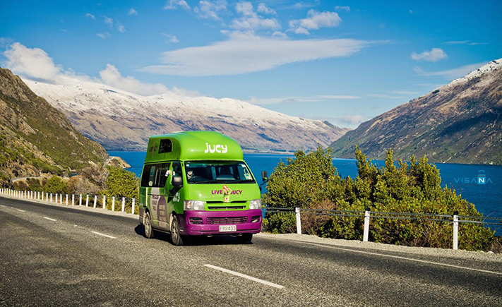 Jucy Rentals du lịch new zealand